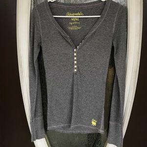 Aeropostale Women's Grey Thermal Shirt
